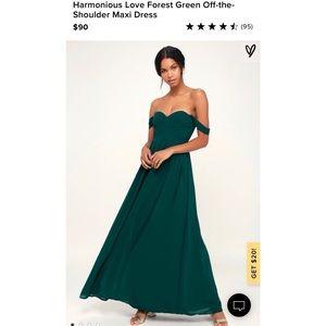 Lulus Harmonious Love Off the Shoulder Maxi Dress